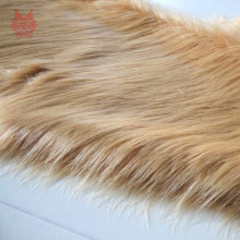 High grade camel 9cm plush faux fur fabric for winter coat vest Fur collar 150*50cm 1pc long hair fur fabric free ship SP3087(China)