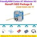H3 quad-core cortex-a7 allwinner friendlyarm nanopi neo (256 m ram) + ttl + dissipador de calor + 8 gb cartão tf + usb + cabo de alimentação = nanopi neo pacote b