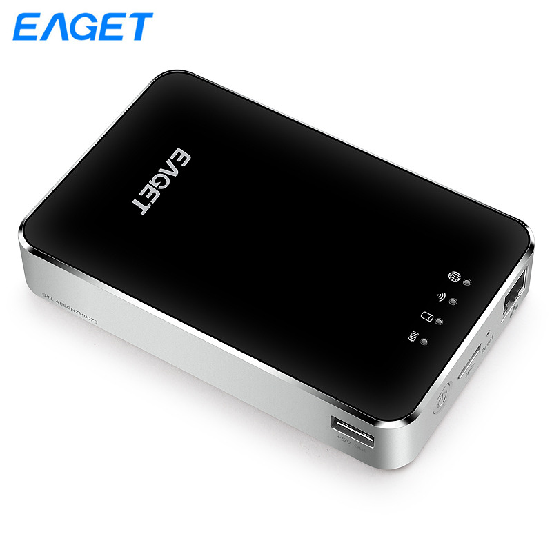 EAGET A86 Wireless WIFI External Hard Drive USB 3.0 2.5 inch 1TB External Storage Hard Disk HDD With 3G Router Mobile Power Bank ishare candy color 3g wireless router 5200mah mobile power bank storage