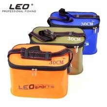 Leo EVA Портативный складной ведро для рыбы воды 30/35 см с ручкой герметичные Открытый Рыбалка Шестерни синий/оранжевый/зеленый снасти мешок