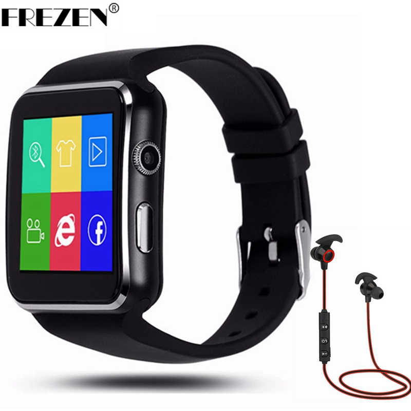 FREZEN NEW X6 Camera Smart Watch On Wrist Message Call Bluetooth Wrist Watch For Android Xiaomi