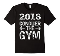 2018 New Year Resolution T Shirt Exercise And Weight Loss Tee Round Neck Best Selling Male