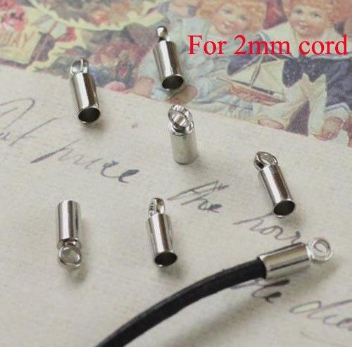 500 шт/партия ожерелье Накладка для бисера для 2 мм кожаный шнур ювелирных изделий 2013