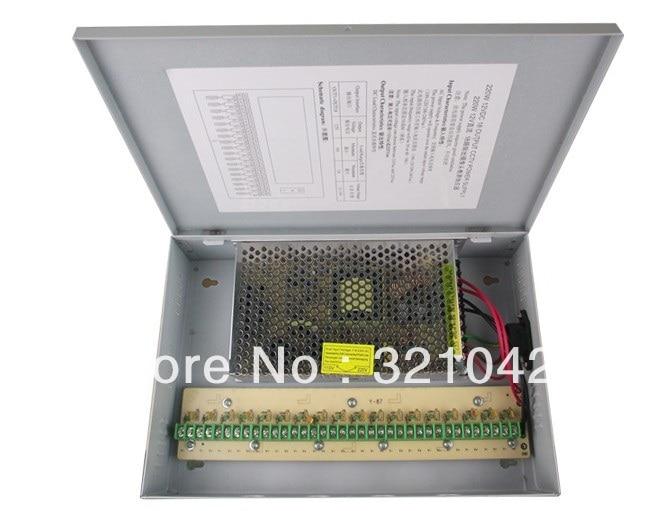 18CH 12V 15A CCTV Power Supply Box / 12V 15A 180W Monitor Switch Power supply 4pcs 12v 1a cctv system power dc switch power supply adapter for cctv system