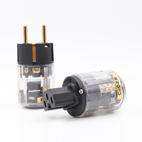 Free Shipping 10 Pair Oyaide Brass P 029 Transparent US Power Plug C 029 IEC Connector