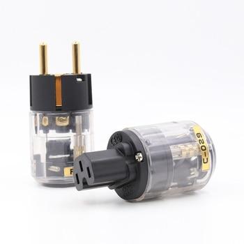 Spedizione gratuita coppia Oyaide P-029E/C-029 versione di UE Spina di Alimentazione IEC connettore per audio cavo di alimentazione
