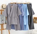 Men Japanese Style Kimono Pajamas Set Cotton Top Shirt Pants Suit Soft Comfortable Loose Fit