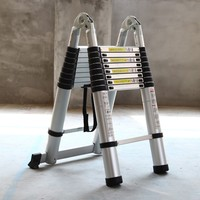 3.1M+3.1M Portable Aluminum AlloyTelescopic Ladder With Joint Multipurpose Retractable Straight Ladder Adjustable Ladder
