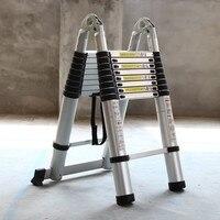 3.1M+3.1M Portable Aluminum AlloyTelescopic Ladder With Joint Multipurpose Retractable Straight Ladder Adjustable Ladder