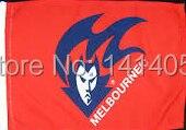 Melbourne Demons Flag 150X90CM AFL 3X5FT Banner 100D Polyester grommets custom009, free shipping