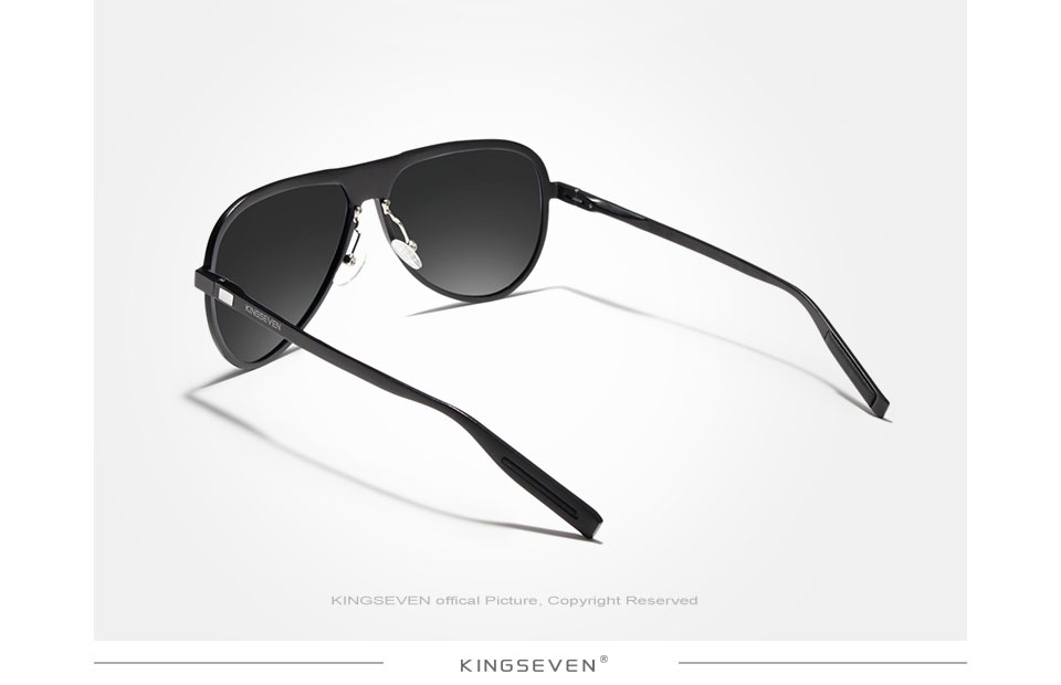 KINGSEVEN Full Frame Aluminum Magnesium Male Sunglasses Men 100% Polarized Sun glasses Women UV400 Oculos de sol