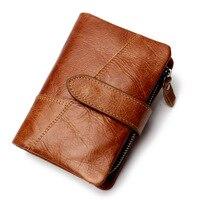 Free shipping Genuine Leather Wallet Men PORTFOLIO Gift Male Cudan Portomonee Perse Coin Purse Pocket Money Bag