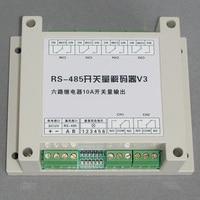RS485 Bộ Giải Mã Sáu Bộ của Tiếp Sức Thiết Bị Chuyển Mạch Có Thể Được Truy Vấn Nhà Nước Chuyển Đổi PELCO Giao Thức.