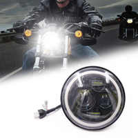 1 pc 7 zoll moto rcycle LED scheinwerfer runde 6500K 40w 5000lm auto moto rbike scheinwerfer H4 H13 moto nebel lampen Für Harly Yamaha Jeep