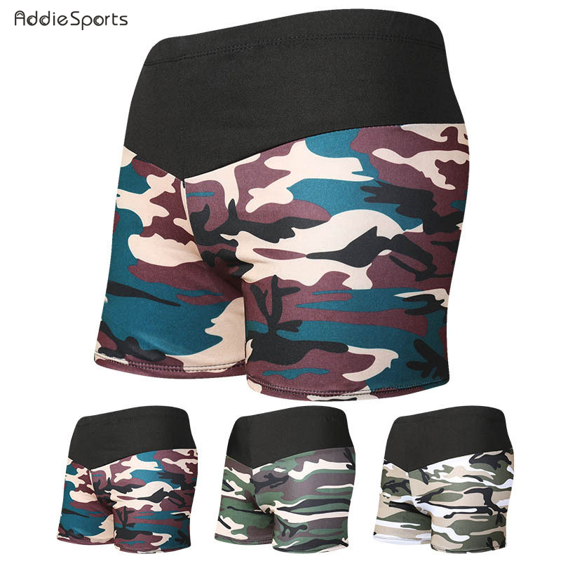 Mens swimming trunks 2018 New arrival Beach swimming shorts Camouflage printing Splicing Obesity Swimming trunks A18137