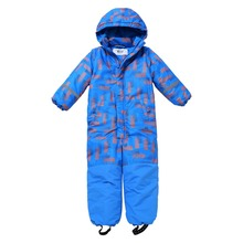 Moomin 2019 new fashion childrens winter overall warm waterproof jumpsuit outwear -20 degree snow boys blue
