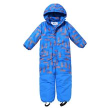 Moomin 2019 new fashion childrens winter overall warm waterproof winter jumpsuit outwear -20 degree snow overall boys blue(China)