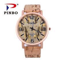 Relogio Masculino Simulation Wooden Quartz Men Watches Casual Wooden Color Leather Strap Watch Wood Male Wristwatch Relojes