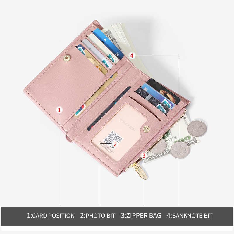 WEICHEN 2019 новый дизайнерский маленький кошелек для женщин, Много отделов, кошелек на молнии для монет, кошельки для карт, женские короткие кошельки