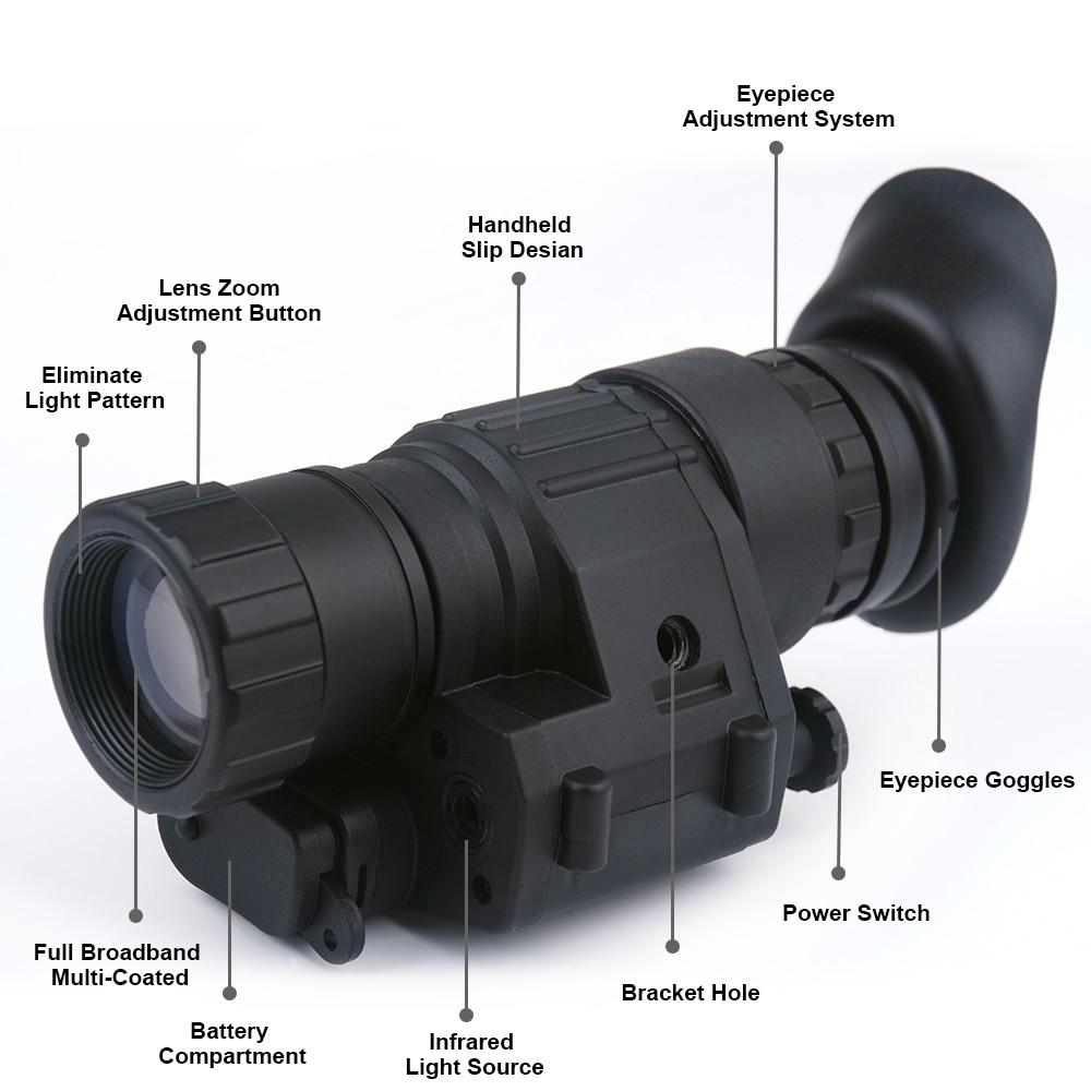 Night Vision Hunting Monocular 2x30 Riflescope Digital IR Monocular Night Vision Telescope For Helmet Scope