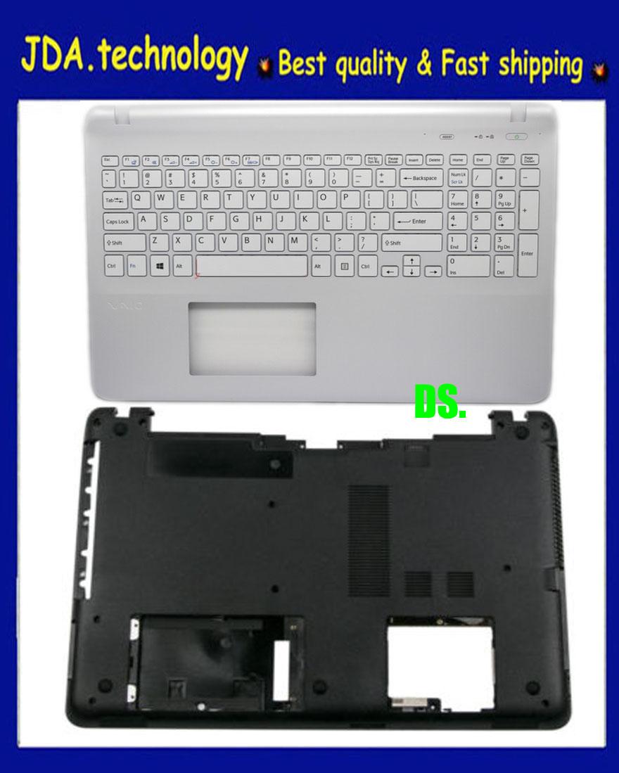 New SONY SVF152C29U SVF152C29W SVF152A29U Palmrest UK EU Keyboard Upper case