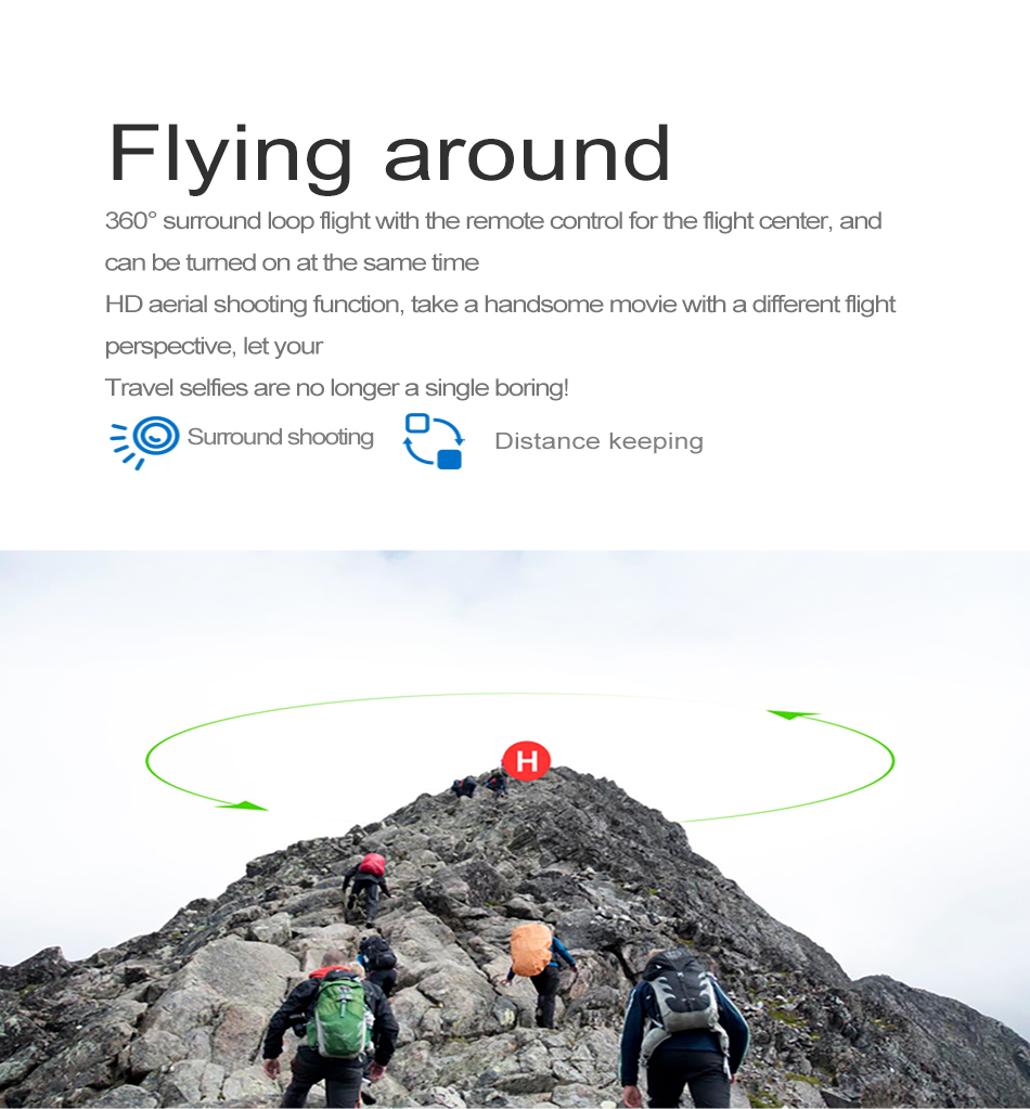 S GPS FOLLOW ME FPV RC Drone With Video 1080P HD Camera Photos Features Double Quadcopter 5MP pixel Foldable toy drone 19