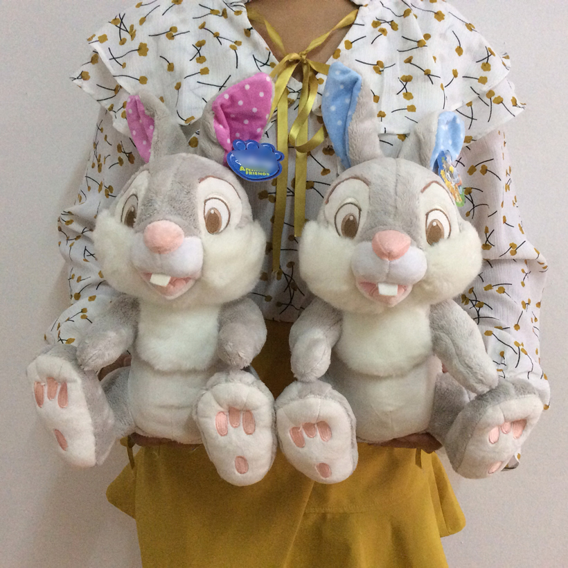 Sitting height 26cm 10'' Original Cartoon Little Deer Bambi Bambi's Friend Thumper Rabbit Plush Stuffed animal Toy good quality little rabbit animal series many chew toy