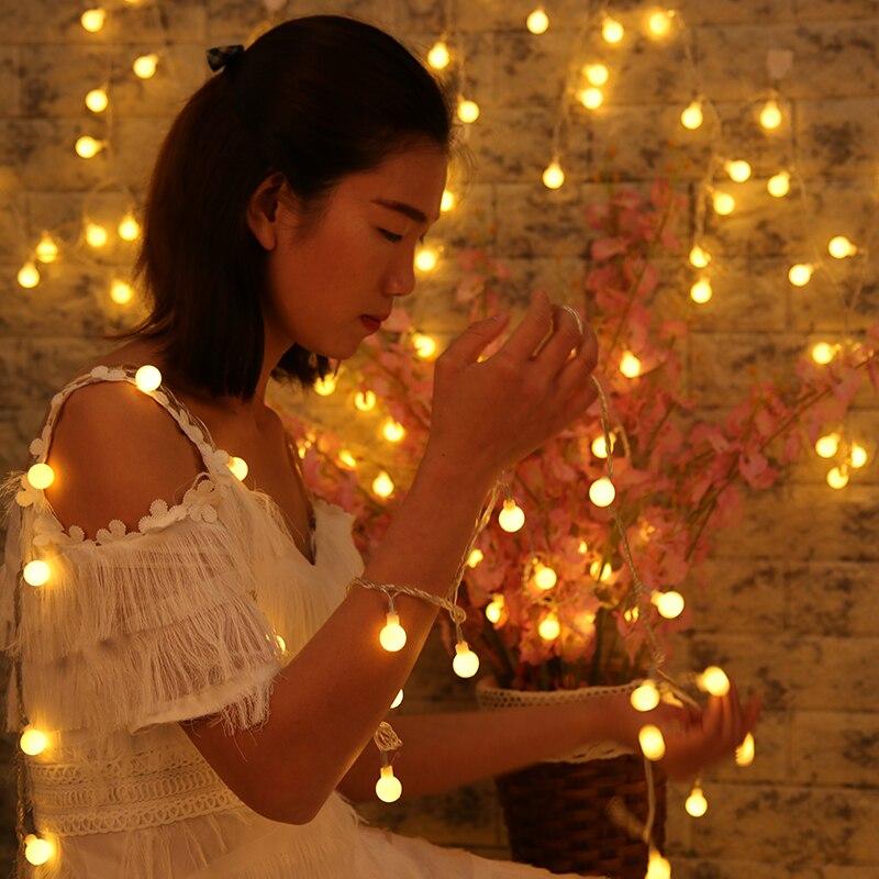 2018 Natale Luci leggiadramente Luci della Festa di Natale del Commercio All'ingrosso ha condotto le luci decorazione Palloncini di Modo A Buon Mercato di Natale Palla Luce Della Stringa