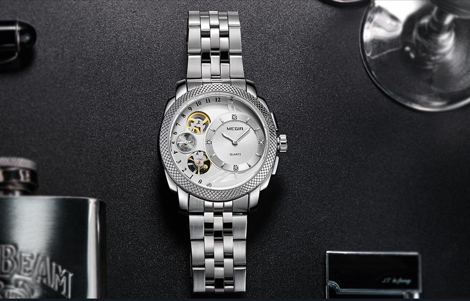 HTB16lgLX6DuK1RjSszdq6xGLpXaq MEGIR Luxury Quartz Watches Stainless Steel Military Wrist Watch