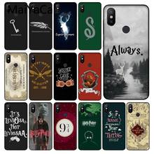 MaiYaCa Harry Potter Hogwarts Pattern Phone Case cover Shell for Redmi 5 plus Note 5 Note 4 4X Xiaomi MI 6 8 8SE Mobile Cover(China)