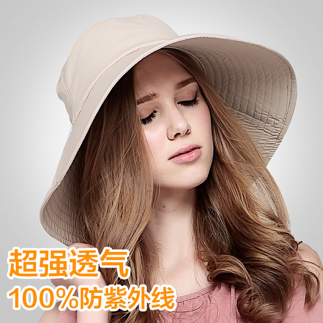 2016 New Summer Women Adjustable Sun Bucket Hats Printed Floral Foldable Beach Caps Wide Brim Sun Hat Visors B-2288