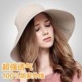 2016 Nueva Verano Mujer Sun Beach Caps Sombreros Del Cubo Impreso Floral Plegable Ajustable Sombrero de Ala Ancha Dom Viseras B-2288