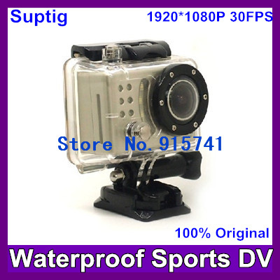 2013 Newest Full HD 1080P Waterproof Car Sports  Action  Camera Cam DVR (like gopro )+170  wide Angle lens Camera Free Shipping