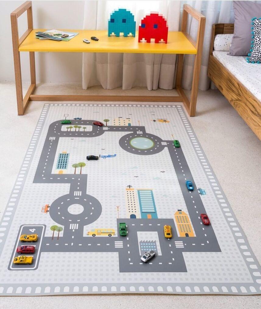 Tapis bébé tapis en coton tapis de jeu bébé activité jeu tapis de jeu décoration enfants tapis de chambre enfants puzzle autoroute jouets tapis