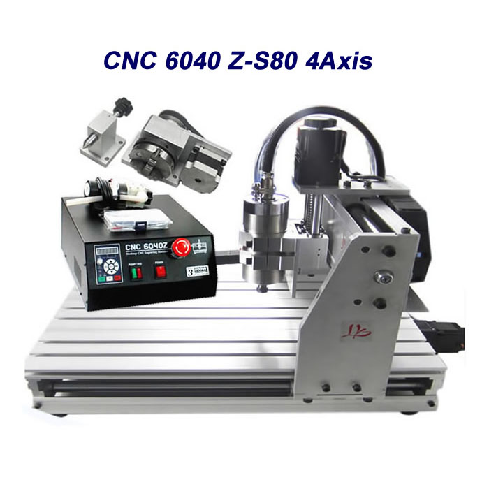 Free tax to Russia 4axis milling machine cnc 6040 mach3 control metal engraver with rotational axis 2 2kw 3 axis cnc router 6040 z vfd cnc milling machine with ball screw for wood stone aluminum bronze pcb russia free tax