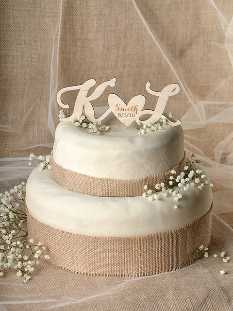 Lovebirds Cake Topper, Wedding Date Cake Topper, Wedding Cake Topper ...