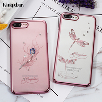KINGXBAR For Apple IPhone 7 Plus Hard Cases Diamond PC Back Phone Cover Case For IPhone7