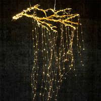 Le plus long 2/3M 300/600/900 LED vignes guirlandes lumineuses fil de cuivre branche lumières mariage décoration lumière plante jardin chambre Décor