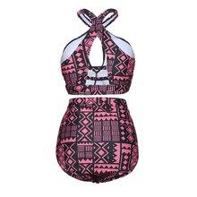 Push Up High Waist Bikini Plus Size