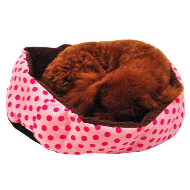 Cute Dogs Beds Leopard Colorful Print Pet Cats Warm Nest Winter Super Soft Octagonal Nest Beds  3