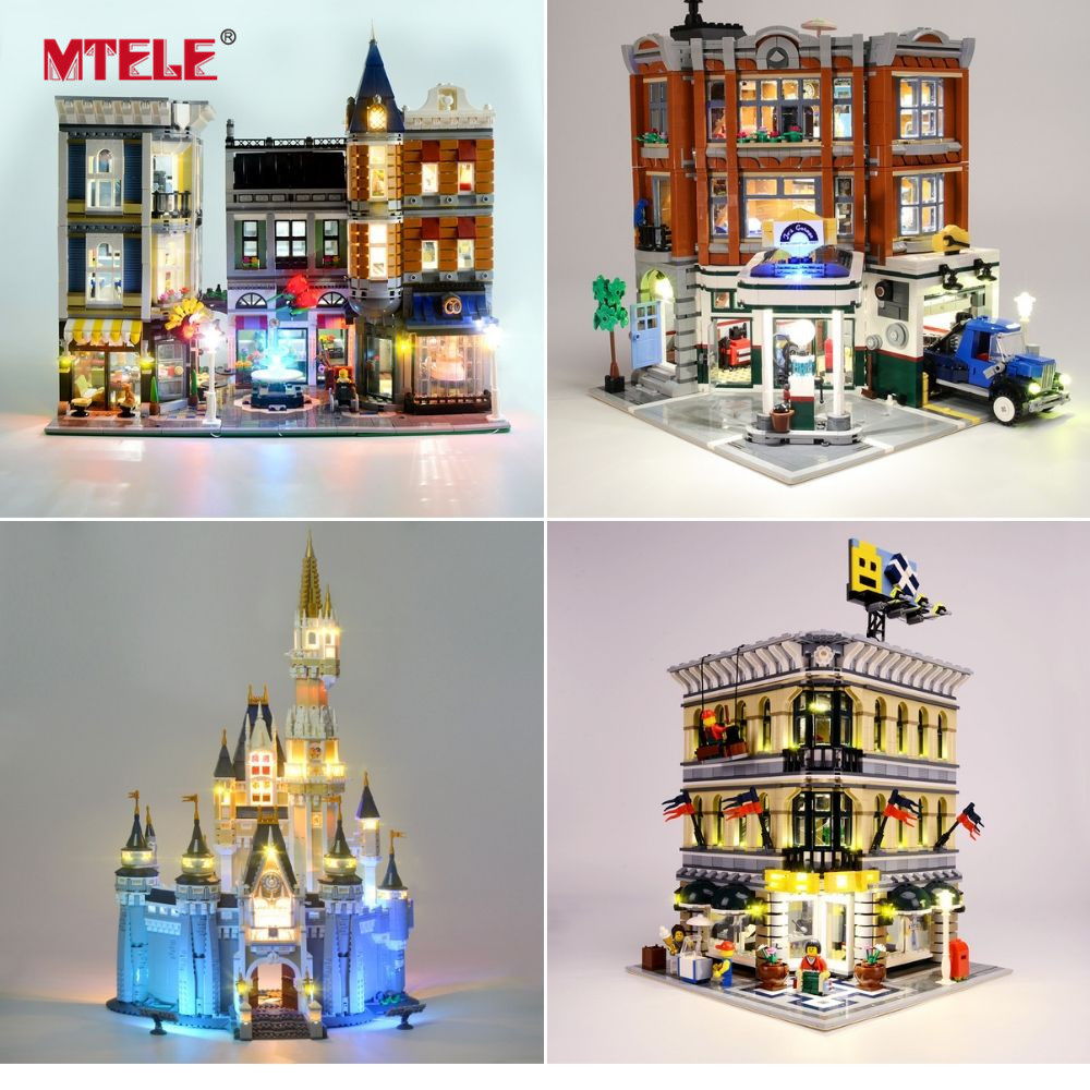 MTELE Luce Kit SOLO Per Creator Compatibile Con Lego  10182/10224/10211/10260/10243/10246  /10218/71040/10251/10264/10255/10232-in Blocchi da Giocattoli e hobby su