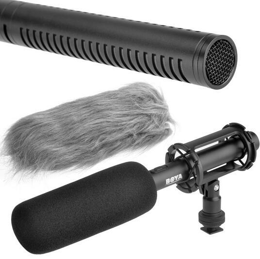 ФОТО BOYA BY-PVM1000 Professional DSLR Condenser Shotgun Microphone Video Interview Reporting for Canon Nikon Sony DSLR Cameras