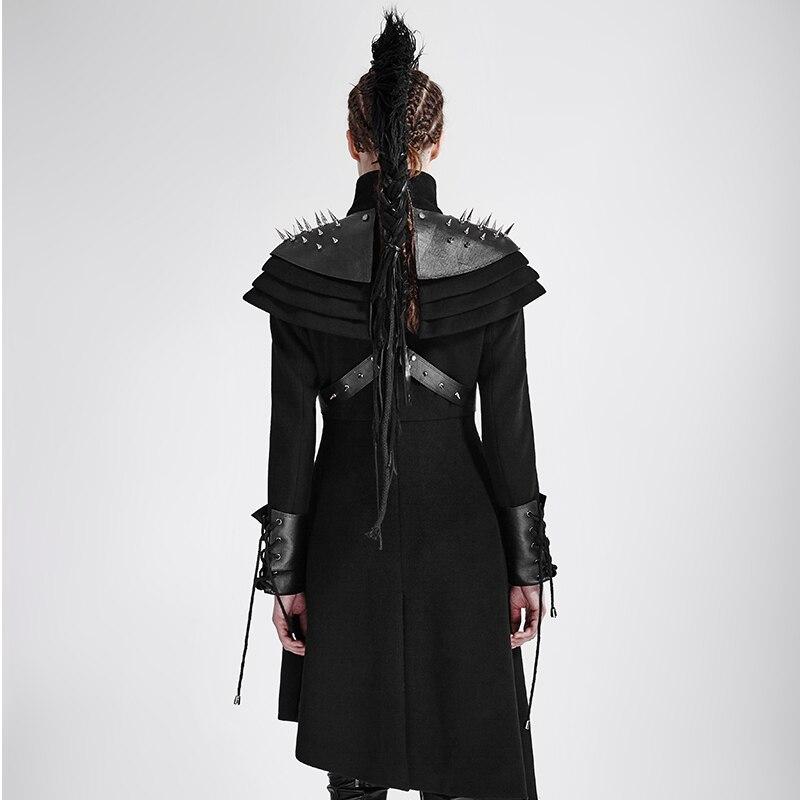 Steampunk Noir Asymétrique Cosplay Femmes Longs Manteaux Style Militaire Laine Casual Long Gothique Black Trench De qrA1qfxwd