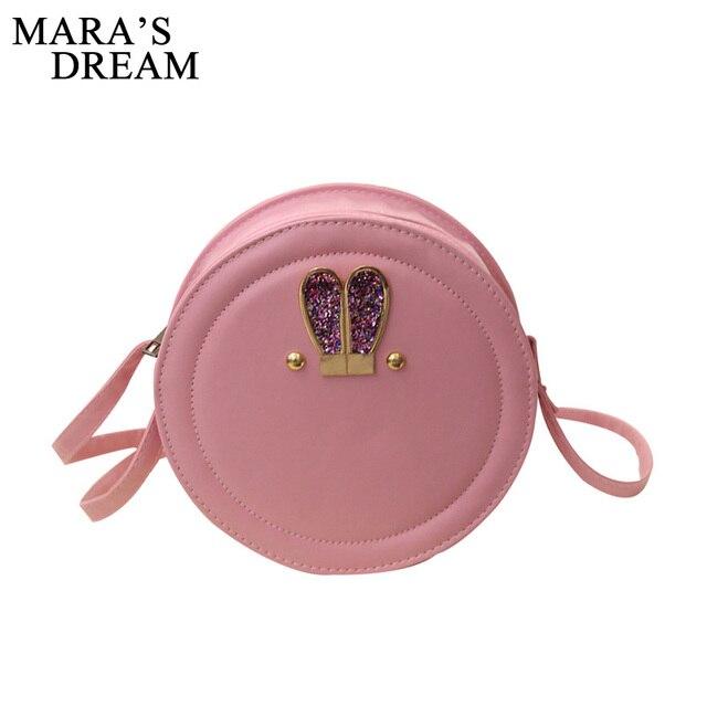 7afc13fb9070 Mara s Dream Round Women Bag Rabbit Ears Crossbody Bags For Women Ladies  Cute Shoulder Bag Circular Girls Messenger Bags Summer
