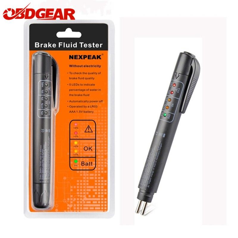 где купить Brake Fluid Liquid Tester Pen With 5 LED Car Auto Vehicle Tools Car Vehicle Auto Automotive Diagnostic Tool For DOT3/DOT4 Auto дешево