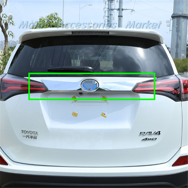 New Chrome Rear Trunk Lid Cover Molding Trim For Toyota Rav4 2016 2017 2018