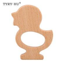 TYRY.HU 1PC Wooden Baby Teether Baby Teething Inspired Organ