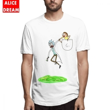 Pickle rick t shirt Casual New Arrival Men Rick And Morty Tee Shirt Soft Crewneck Plus Size