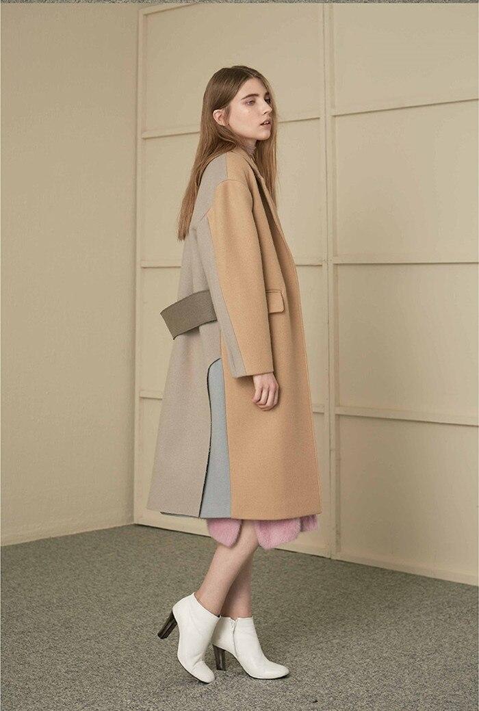 High quality loose wool coat 2018 Autumn winter women woolen overcoat Fashion elegant Cocoon type coat D244