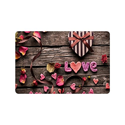 Happy Valentines Day Gifts Presents Doormat Entrance Mat Floor Mat Rug Indoor/Outdoor/Front Door/Bathroom Mats Rubber Non Slip